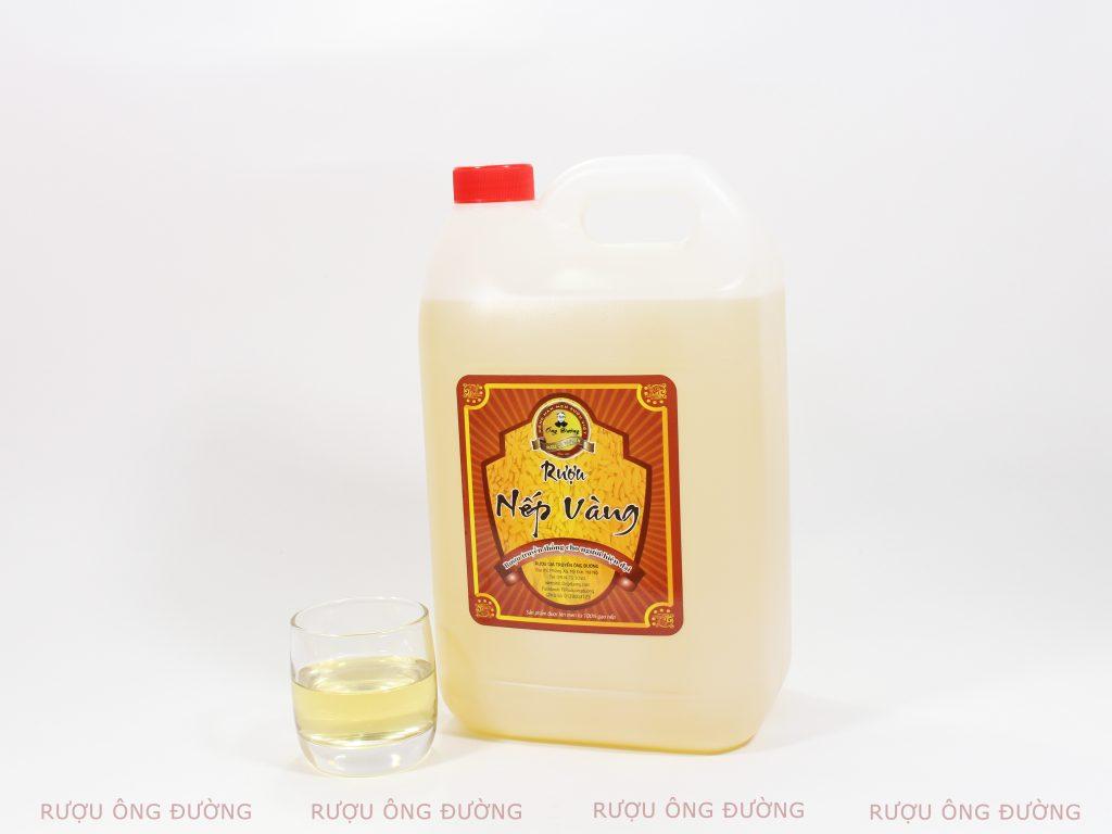 Rượu nếp cái hoa vàng 5 Lít thích hợp dùng cho 15 - 20 người