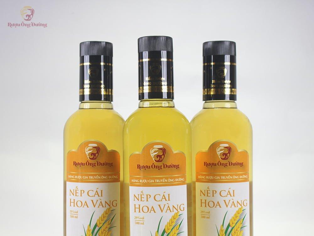 Rượu nếp cái hoa vàng chai 500ml