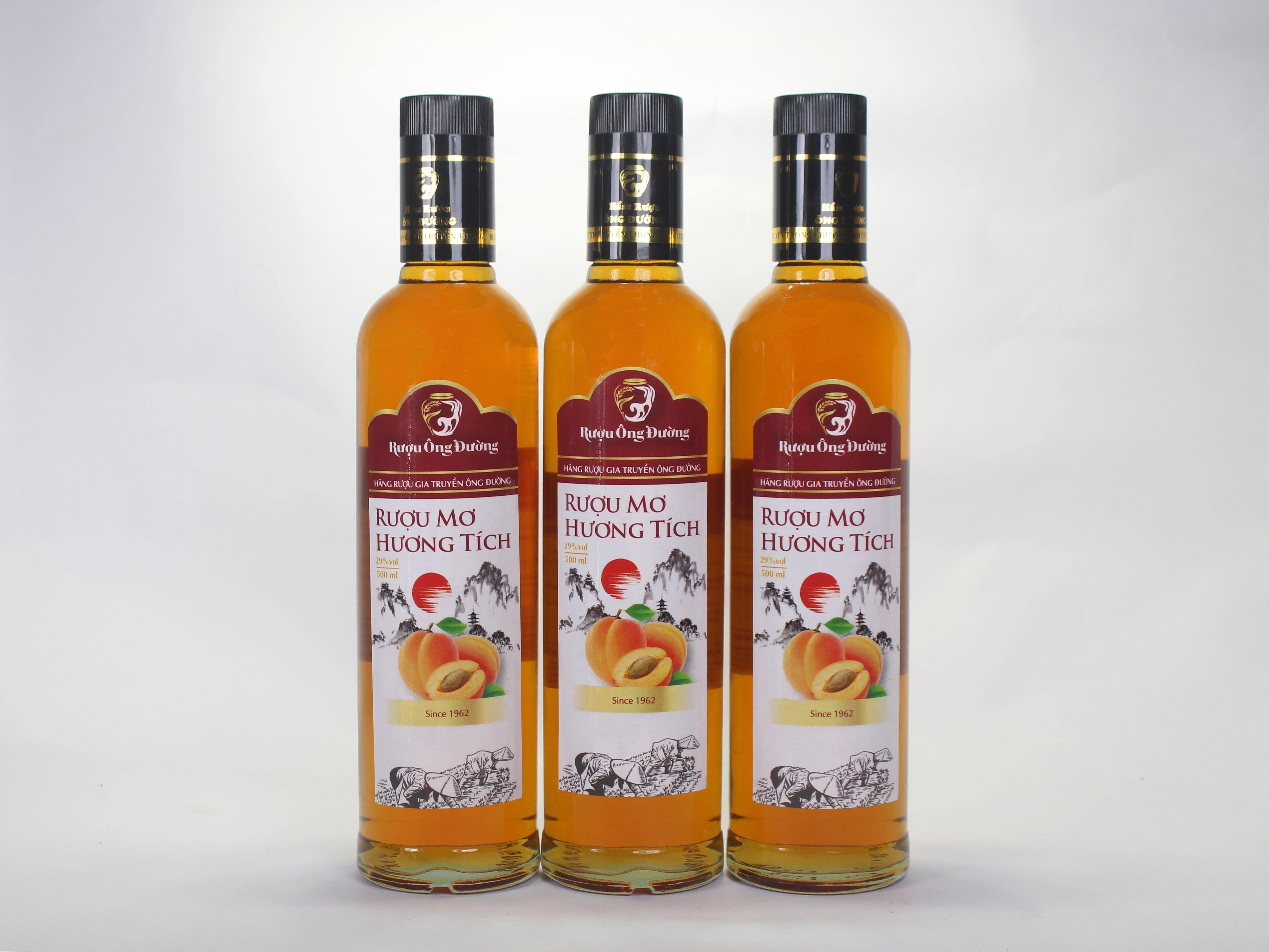 Rượu Mơ Hương Tích ( Chai 500ml )