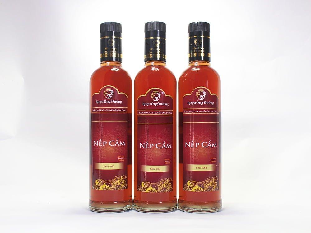 Rượu Nếp Cẩm ( Chai 500ml )