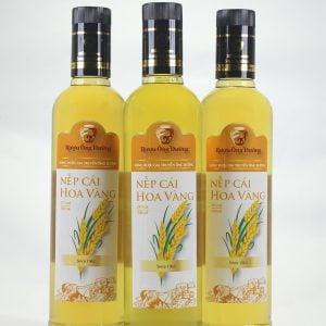 Chai rượu nếp cái hoa vàng 500ml thơm ngon