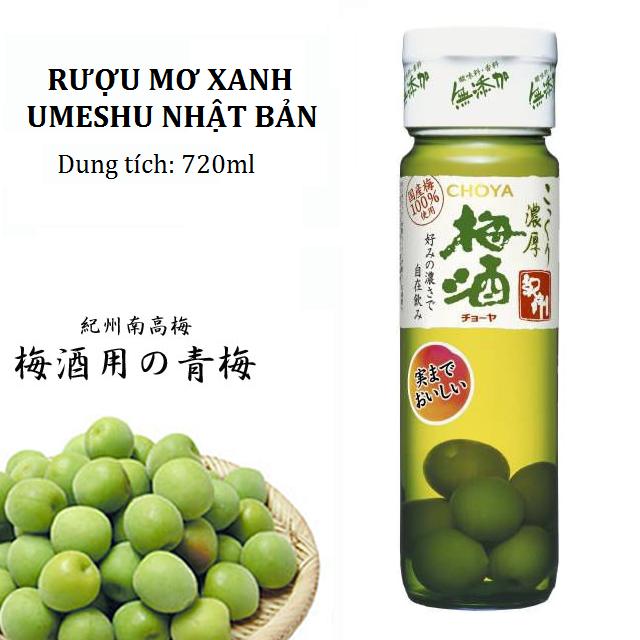 Rượu mơ xanh Choya Nhật Bản